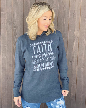 Faith Can Move Mountains Long-Sleeve Thermal Hoodie - Live Love Gameday®