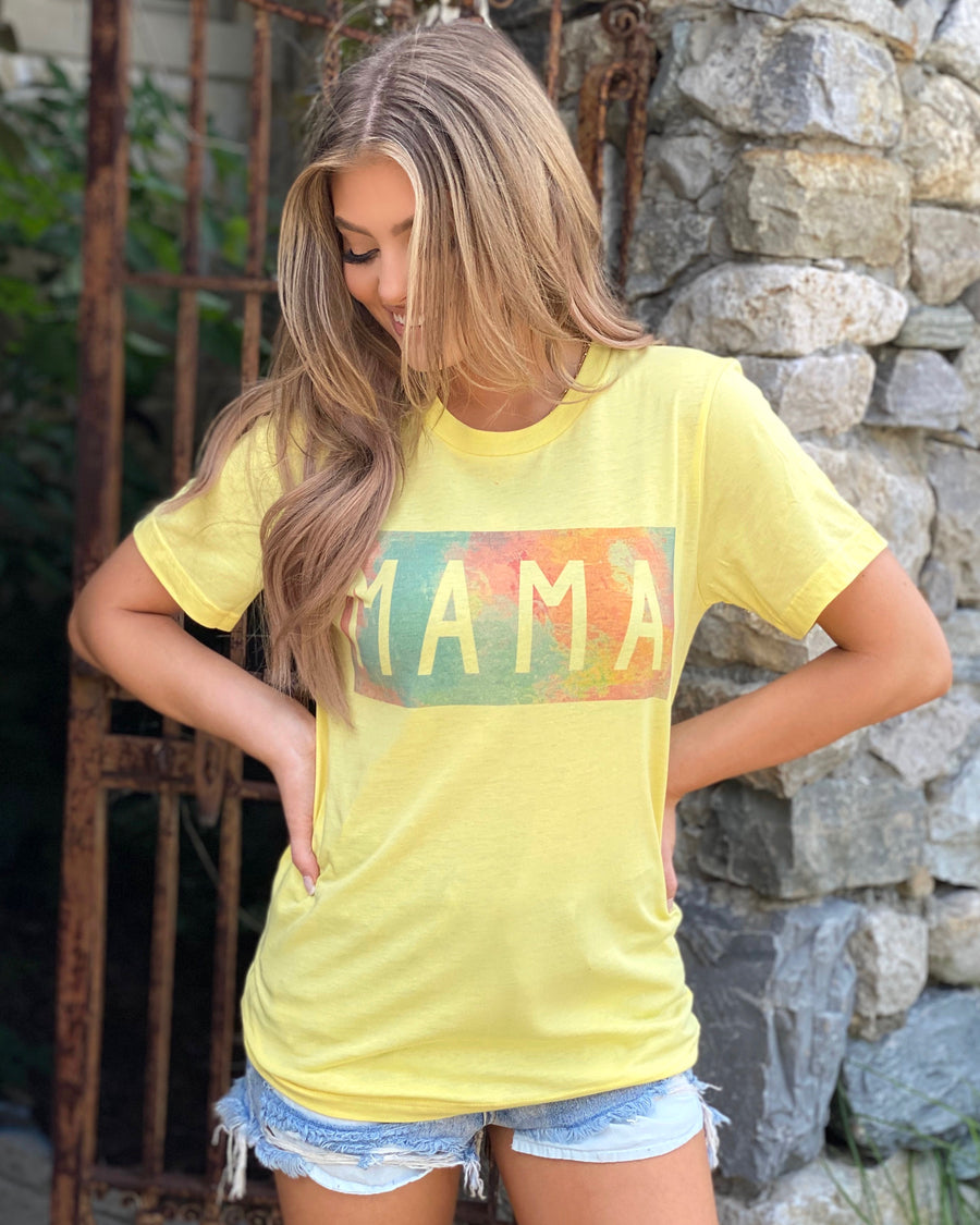 Watercolor Mama Tee