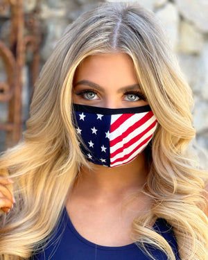 Super Simply American Flag Daily Face Cover