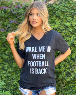 Wake Me Up When Football Is Back V-Neck Tee