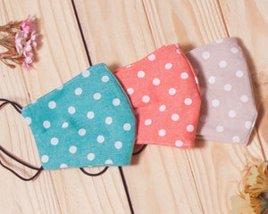 Polka-Dot Cotton Fitted Daily Face Cover