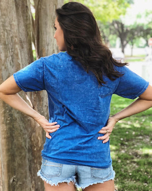 Faith, Family & Freedom – Blue Mineral-Wash Tee