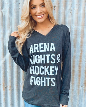 Arena Lights Long-Sleeve Unisex V-Neck Tee