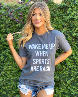 Wake Me Up When Sports Are Back Basic Tee