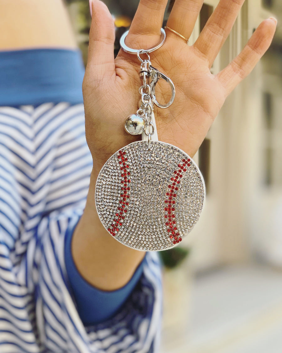 Crystal Baseball Keychain - Live Love Gameday®