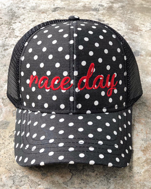 "Accessories – Embroidered ""RACE DAY"" Cap Hat"