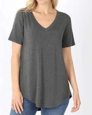 Charcoal Ultra Luxe Rayon Top (S-3XL)