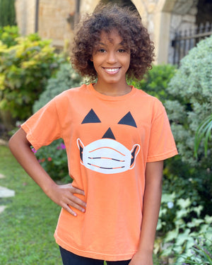 """Stay Safe"" Halloween Face Unisex Tee"