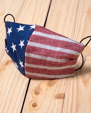 B - American Flag Cotton Fitted Daily Face Cover (Pre-Order Ships Approx. 6/5)