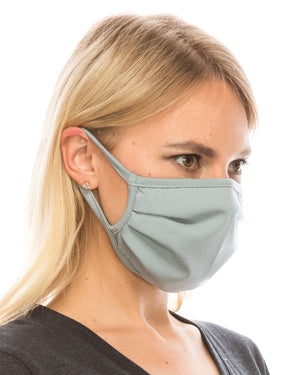 Slate Blue Double-Layer Daily Face Mask