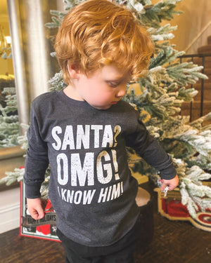 Santa? OMG I Know Him Comfy Long-Sleeve (Toddler & Youth)
