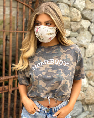 Homebody Camo Crop