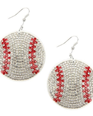Suede Crystal Game Day Earrings