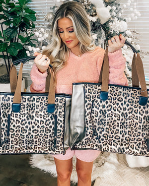 Leopard Double Two-In-One Tote Bags