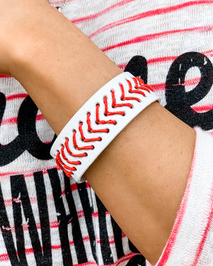Baseball Faux Leather Snap Bracelet - Live Love Gameday®
