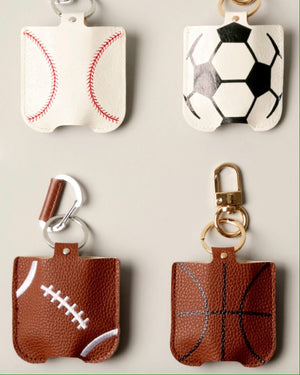 Game Day Style Hand Sanitizer Pouch Keychain Holders