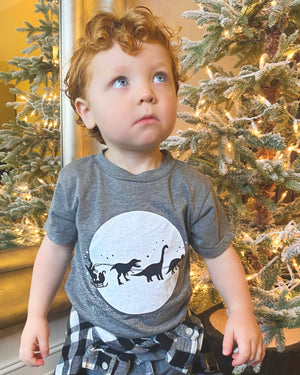 Dinosaur Sleigh Ride Comfy Tee (Toddler & Youth)