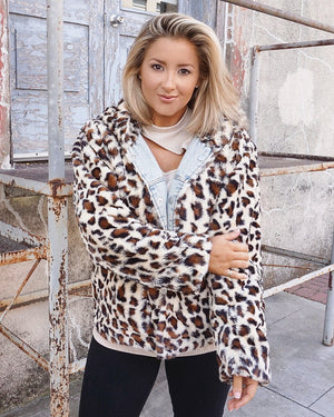 Reversible Animal Print Denim Jacket