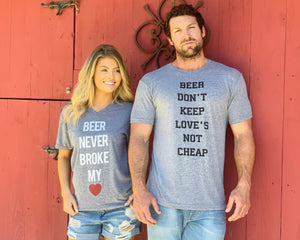 Country Tees For A Cause – Beer Never Broke My Heart - Live Love Gameday®
