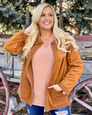 "Reversible Rust ""So Soft"" Coat With Pockets"