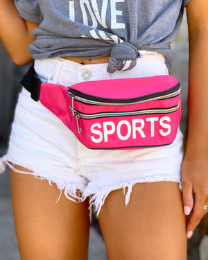 Hot Pink SPORTS Fanny Pack