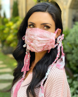 Dusty Rose Boho Braided Daily Fashion Face Cover