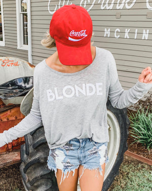 BLONDE Flowy Long-Sleeve Tee - Live Love Gameday®