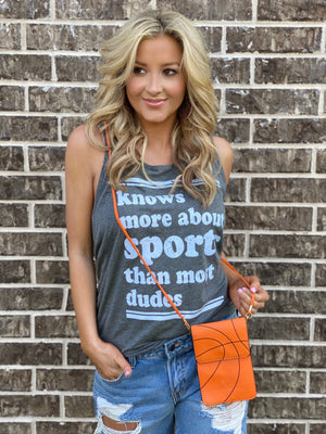 Knows More About Sports Than Most Dudes Casual Tank