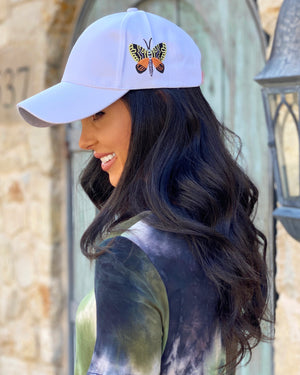 White Butterfly Cap