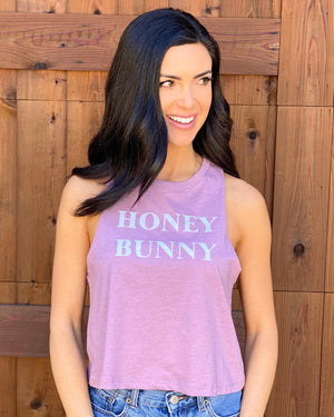 Honey Bunny Lilac Racerback Cropped Tank