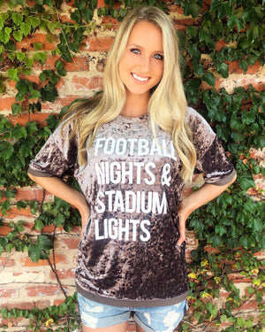 Football – Football Nights & Stadium Lights – LIMITED EDITION Crushed Velvet Top