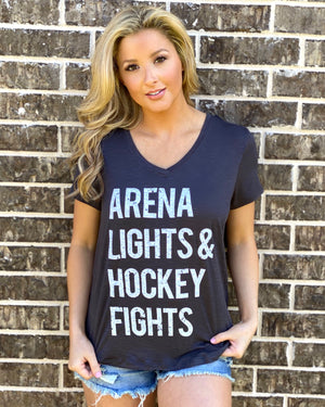 Arena Lights & Hockey Fights® Lightweight Top