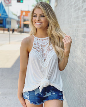 Crochet Lace Flowy Tunic - Live Love Gameday®
