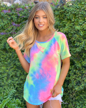Pastel Tie-Dye French Terry Top