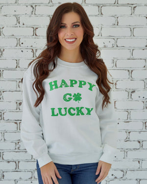 St. Paddy's Day — Happy Go Lucky Comfy Sweatshirt