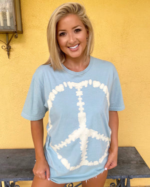 Live Love Peace Sign Oversized Tee