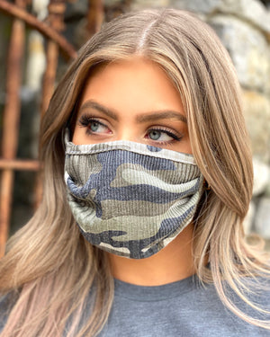 Z - Ribbed Army Double-Layer Daily Face Mask (Pre-Order Ships Approx. 5/20)
