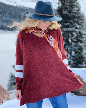 Deal Of The Day: Rust Hacci Ribbed Oversized Sweater