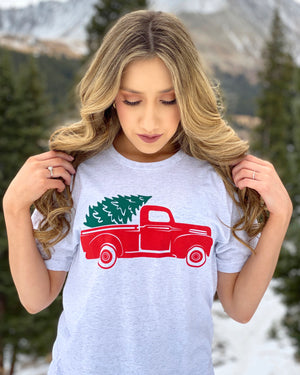 Holiday Truck & Tree Basic Tee