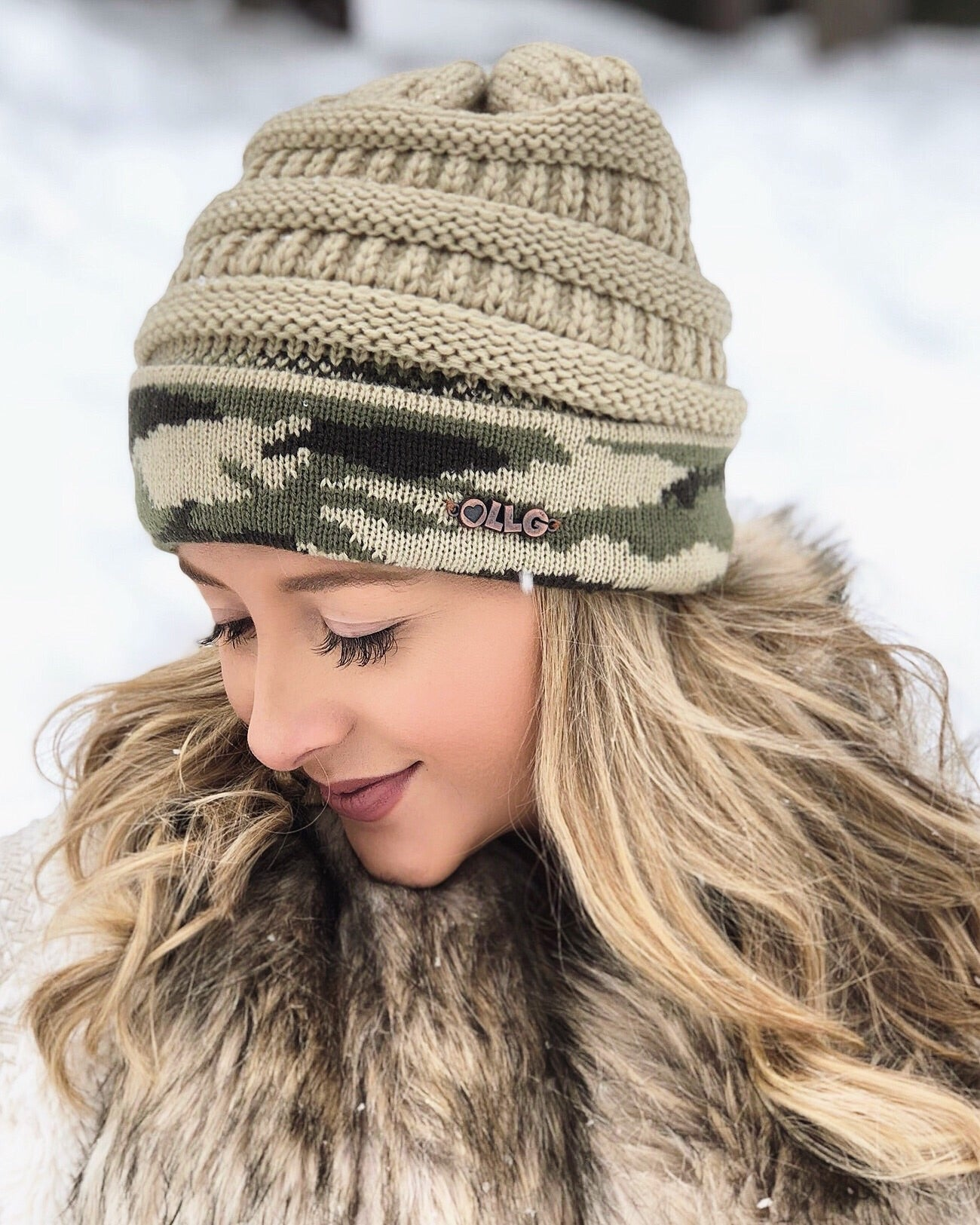 Live Love Gameday® Knit Vintage Camo Beanie – Without Pom fafd101c434