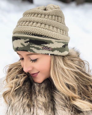 Live Love Gameday® Knit Vintage Camo Beanie – Without Pom
