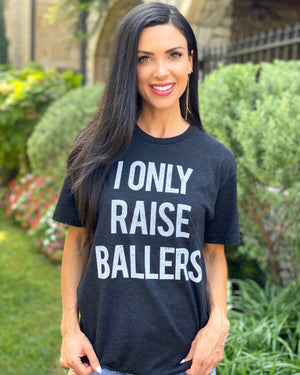 I Only Raise Ballers Basic Black Vintage Unisex Tee