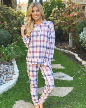 Plaid Print Lounge Set