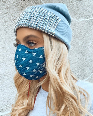 Heart Chambray Mask