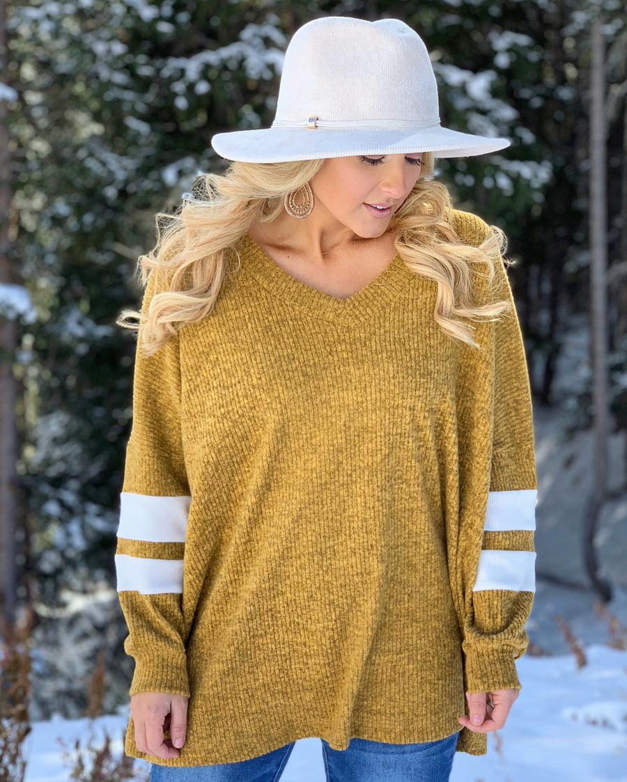 Vintage Mustard Hacci Ribbed Oversized Sweater