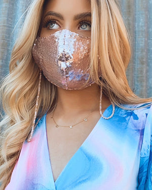 Blush Sequin Daily Face Cover