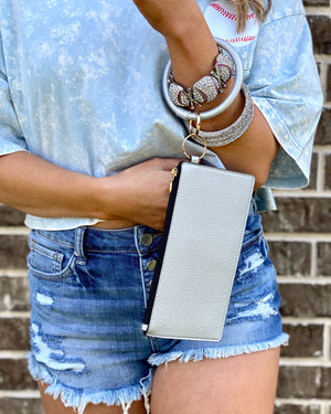 Metallic Silver Bangle Purse