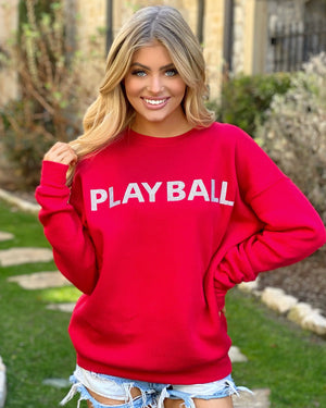 Red Crystal Play Ball Sweatshirt