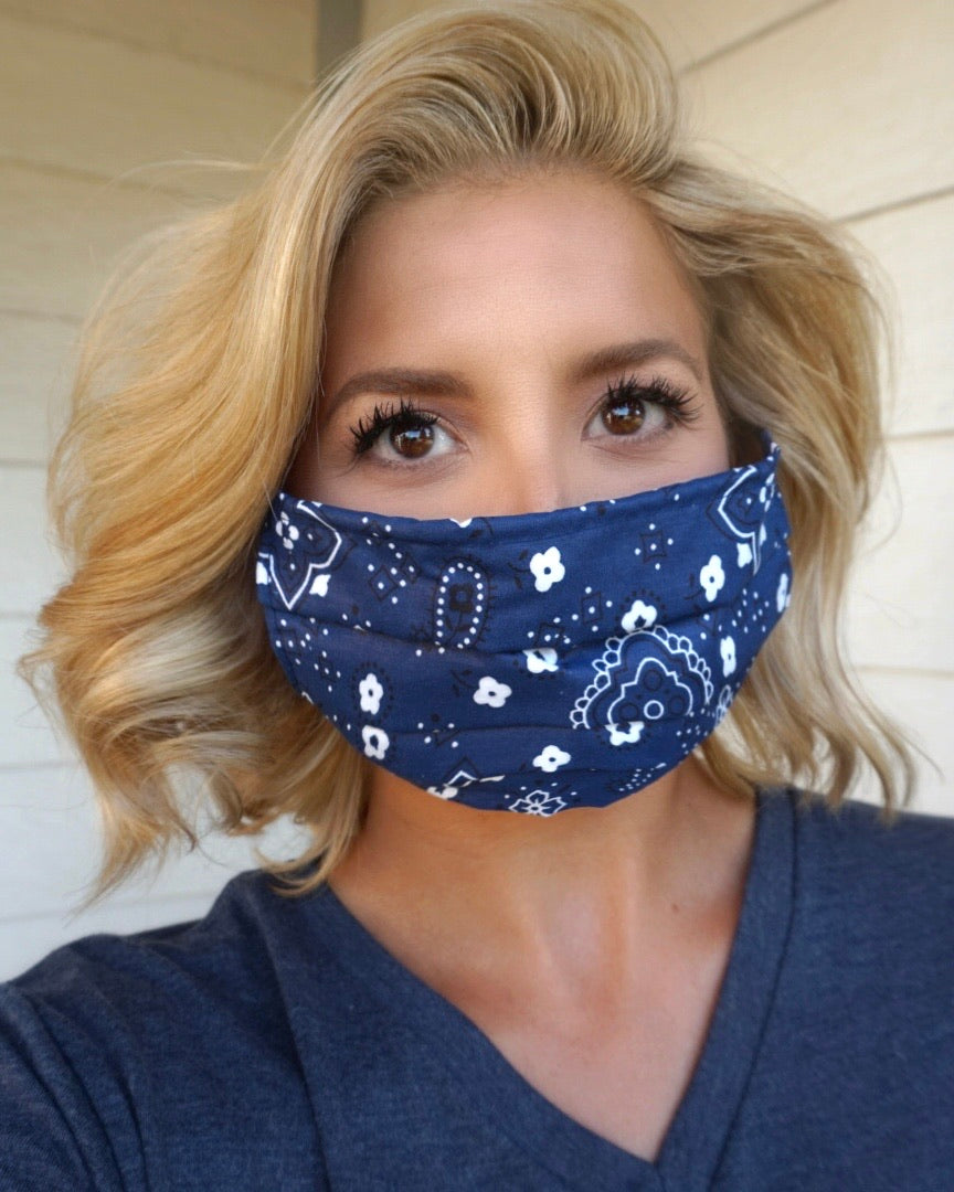 Navy Bandana Mask
