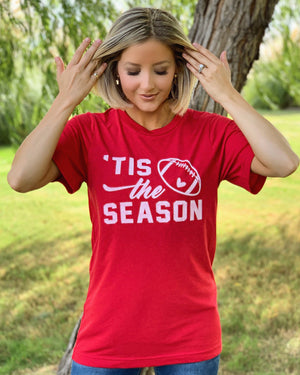 Football – 'Tis The Season – Comfy Red Tee